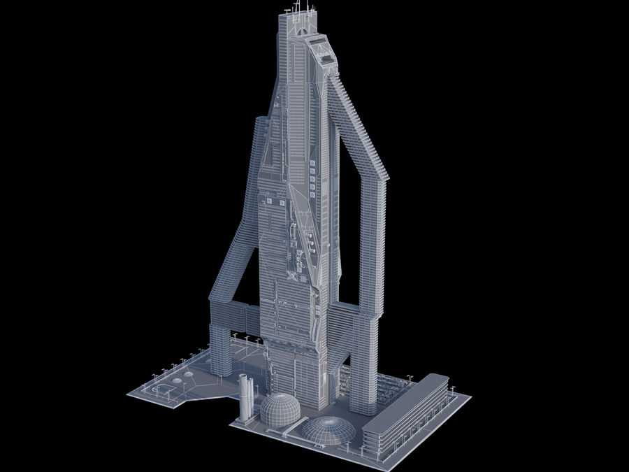 Sci-Fi Buildings royalty-free 3d model - Preview no. 16