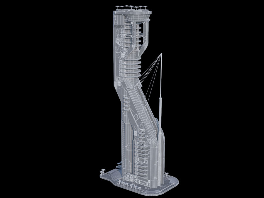 Sci-Fi Buildings royalty-free 3d model - Preview no. 12