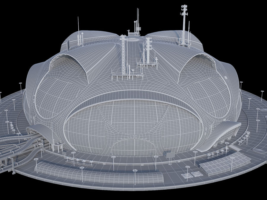 Sci-Fi Buildings royalty-free 3d model - Preview no. 11