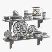 Moroccan Pottery Set 2 3d model