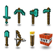 Minecraft weapons and tools 3d model