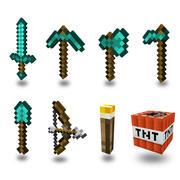 Minecraft armas y herramientas modelo 3d