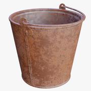 Bucket 12 Liters Rusty 3d model