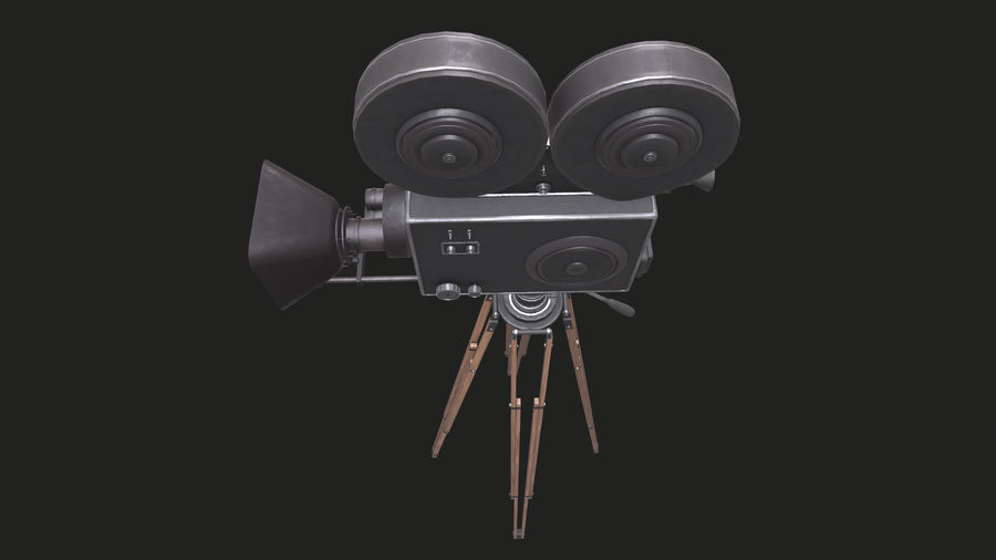 Classic Movie Camera royalty-free 3d model - Preview no. 23