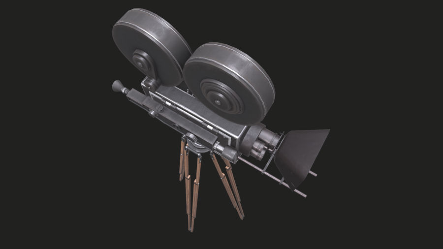 Classic Movie Camera royalty-free 3d model - Preview no. 24
