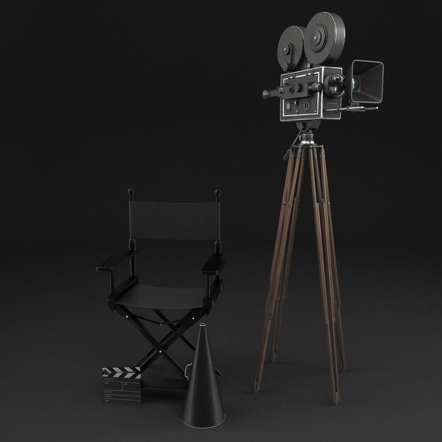 Classic Movie Camera royalty-free 3d model - Preview no. 1