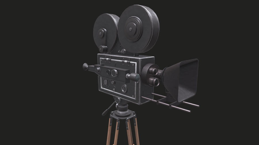 Classic Movie Camera royalty-free 3d model - Preview no. 17