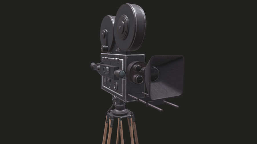 Classic Movie Camera royalty-free 3d model - Preview no. 18