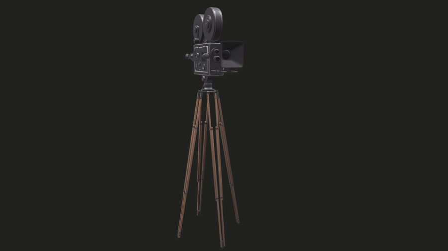 Classic Movie Camera royalty-free 3d model - Preview no. 10