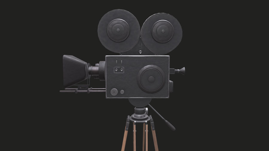 Classic Movie Camera royalty-free 3d model - Preview no. 20