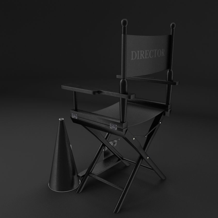 Classic Movie Camera royalty-free 3d model - Preview no. 4