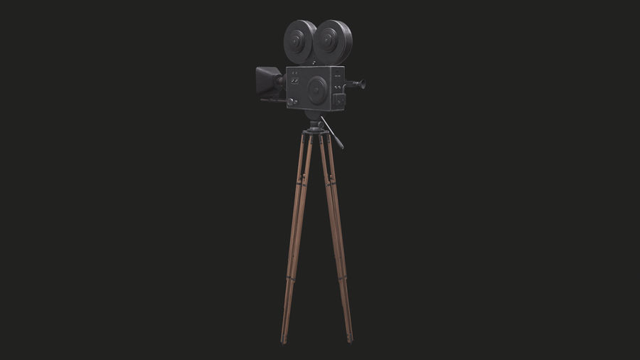 Classic Movie Camera royalty-free 3d model - Preview no. 13