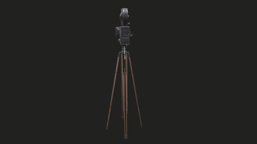 Classic Movie Camera royalty-free 3d model - Preview no. 14