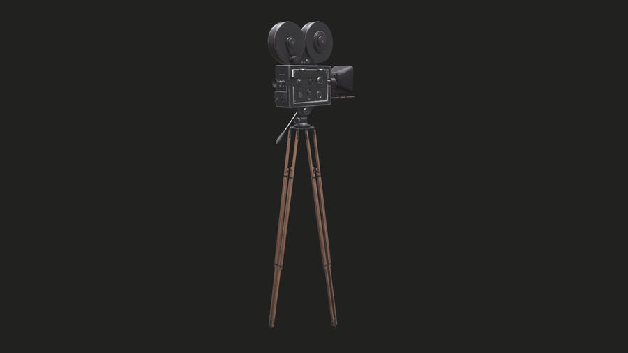 Classic Movie Camera royalty-free 3d model - Preview no. 15