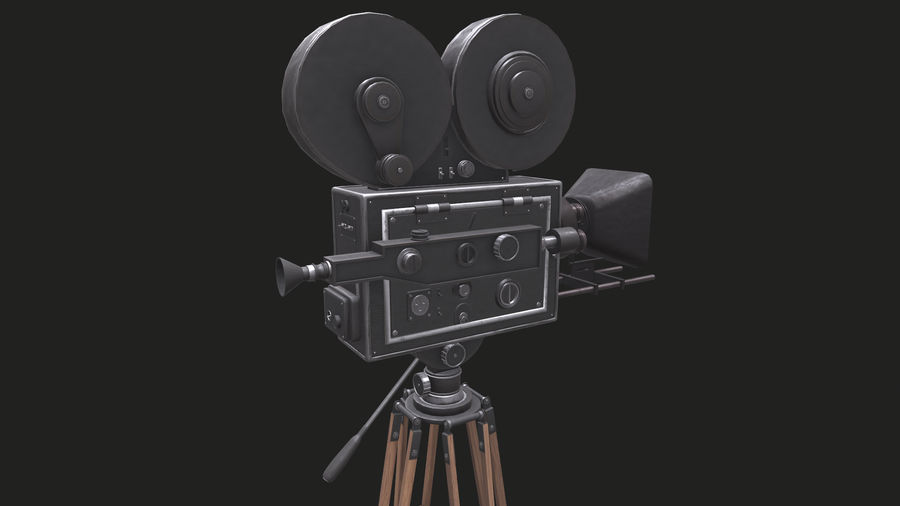 Classic Movie Camera royalty-free 3d model - Preview no. 16