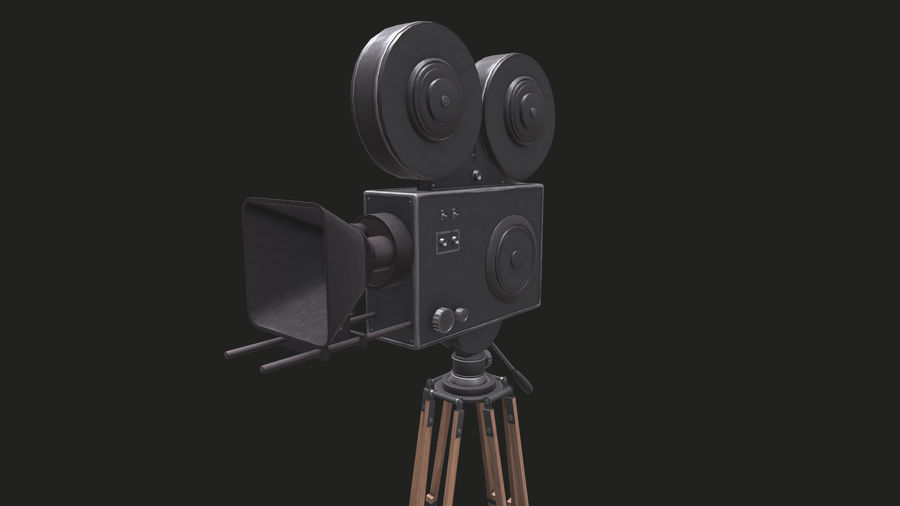 Classic Movie Camera royalty-free 3d model - Preview no. 19