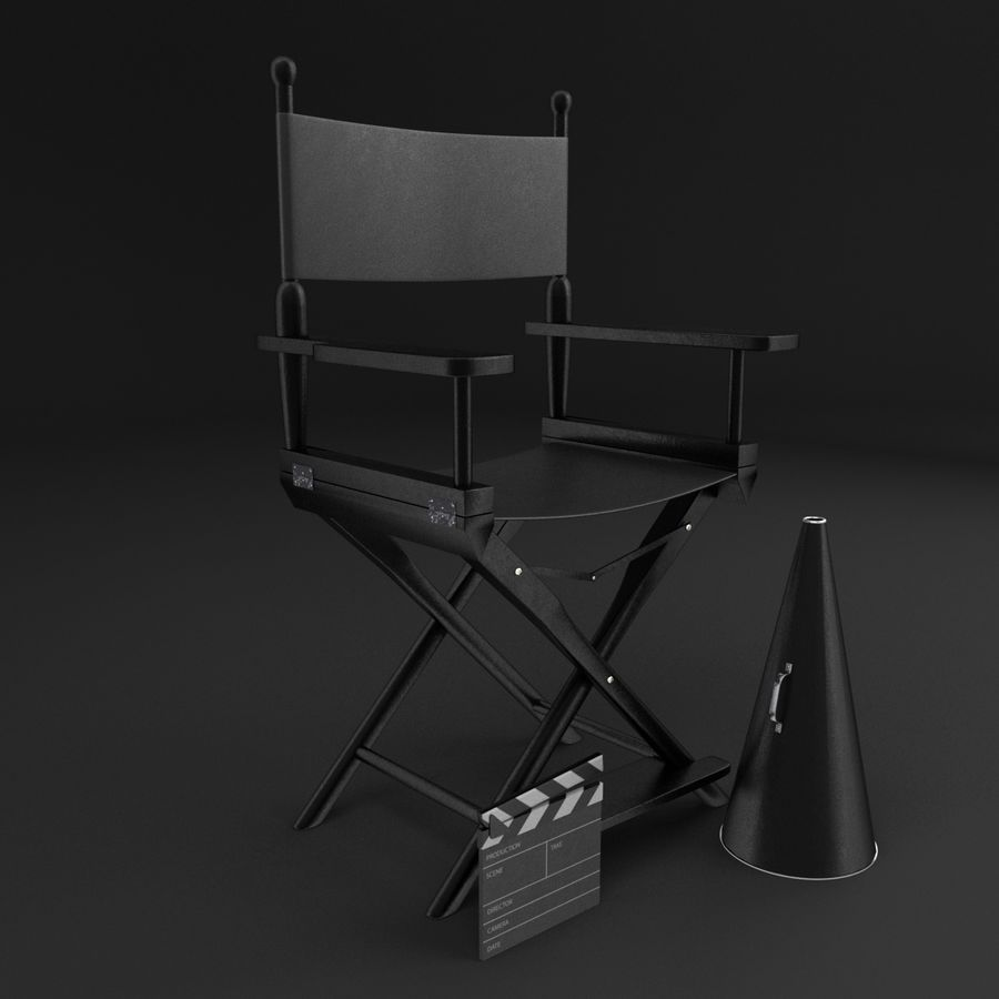 Classic Movie Camera royalty-free 3d model - Preview no. 2