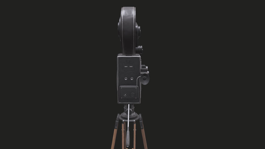 Classic Movie Camera royalty-free 3d model - Preview no. 22