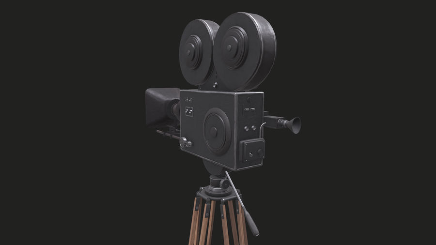 Classic Movie Camera royalty-free 3d model - Preview no. 21