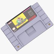 SNES Cartridge Super Mario World Game 3d model