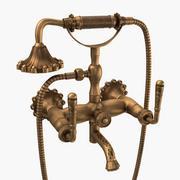 Torneira de bronze antigo escovado 3d model