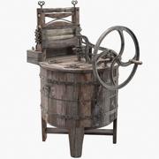 고대 세탁기 3d model