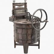 Ancient Washing Machine 3d model
