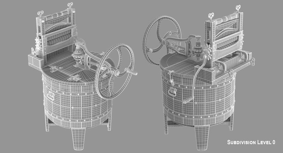 고대 세탁기 royalty-free 3d model - Preview no. 13
