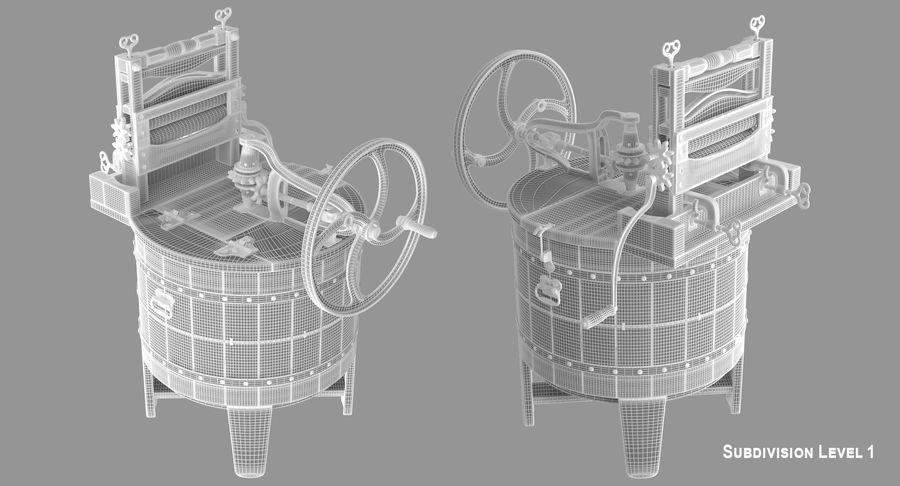 고대 세탁기 royalty-free 3d model - Preview no. 14