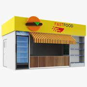 空の食品キオスク 3d model