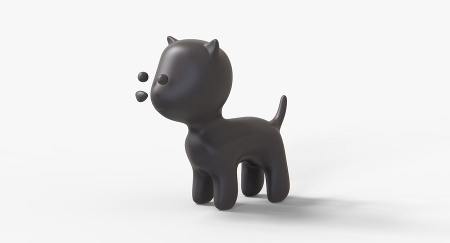 Cartoon Animal royalty-free 3d model - Preview no. 11