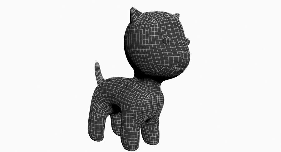 Cartoon Animal royalty-free 3d model - Preview no. 8