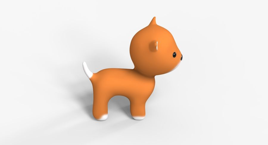 Cartoon Animal royalty-free 3d model - Preview no. 4