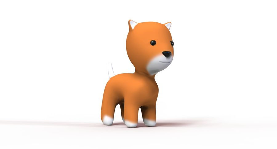 Cartoon Animal royalty-free 3d model - Preview no. 6