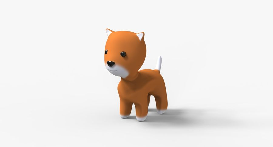 Cartoon Animal royalty-free 3d model - Preview no. 5
