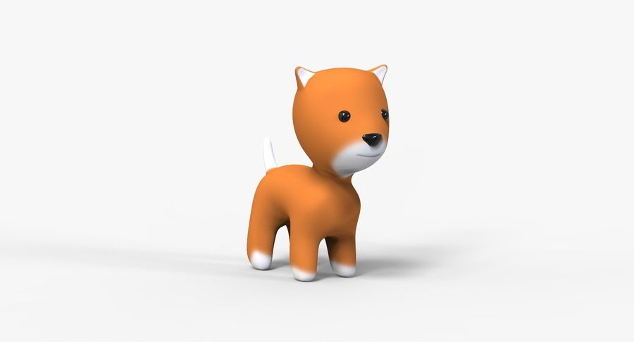 Cartoon Animal royalty-free 3d model - Preview no. 7
