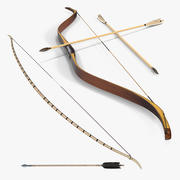Colección de arcos de madera modelo 3d