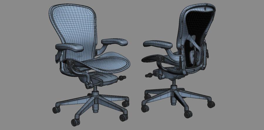 Herman Miller Aeron Chaise de bureau royalty-free 3d model - Preview no. 16