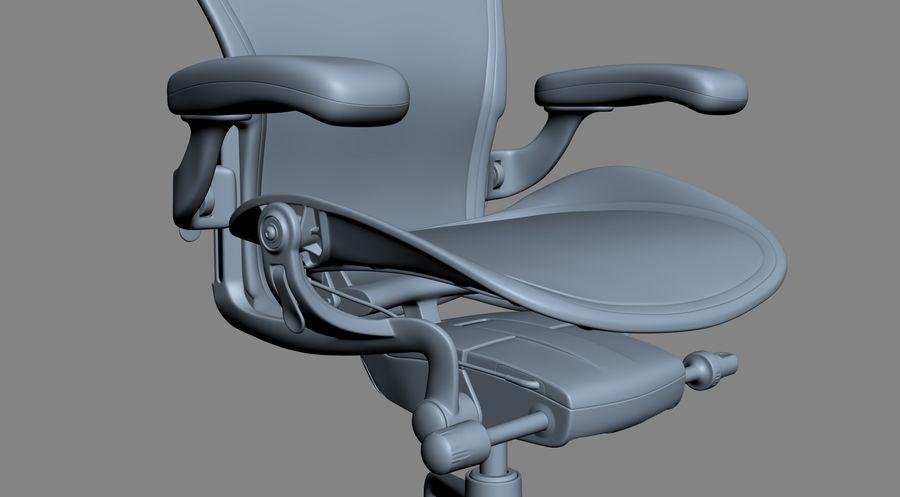 Herman Miller Aeron Chaise de bureau royalty-free 3d model - Preview no. 17