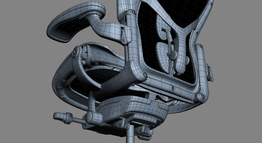 Herman Miller Aeron Chaise de bureau royalty-free 3d model - Preview no. 20