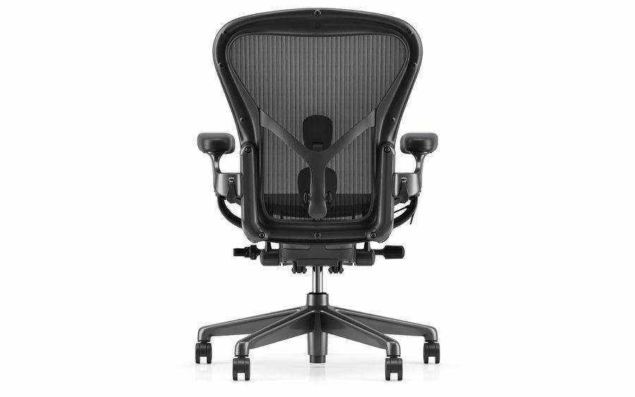 Herman Miller Aeron Chaise de bureau royalty-free 3d model - Preview no. 6