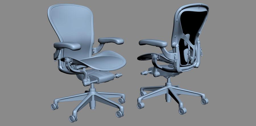 Herman Miller Aeron Chaise de bureau royalty-free 3d model - Preview no. 14