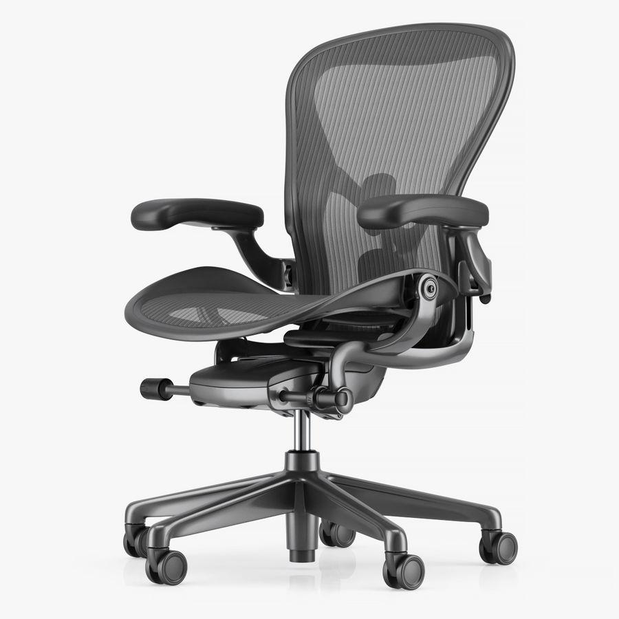 Herman Miller Aeron Chaise de bureau royalty-free 3d model - Preview no. 1
