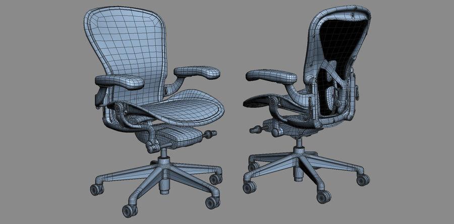 Herman Miller Aeron Chaise de bureau royalty-free 3d model - Preview no. 15