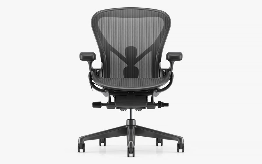 Herman Miller Aeron Chaise de bureau royalty-free 3d model - Preview no. 4