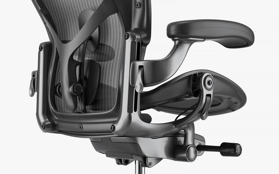 Herman Miller Aeron Chaise de bureau royalty-free 3d model - Preview no. 12