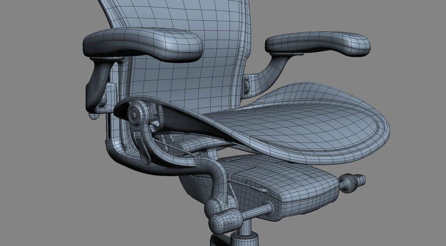 Herman Miller Aeron Chaise de bureau royalty-free 3d model - Preview no. 18