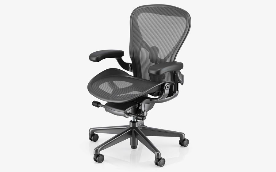 Herman Miller Aeron Chaise de bureau royalty-free 3d model - Preview no. 8