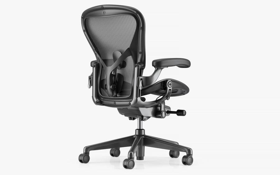 Herman Miller Aeron Chaise de bureau royalty-free 3d model - Preview no. 3
