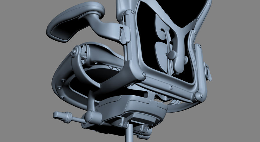 Herman Miller Aeron Chaise de bureau royalty-free 3d model - Preview no. 19